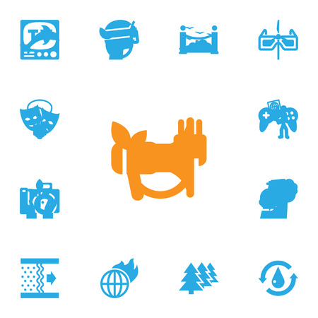 sewage: Set Of 13 Bio Icons Set.Collection Of Saving, Energy, Rubbish And Other Elements. Illustration