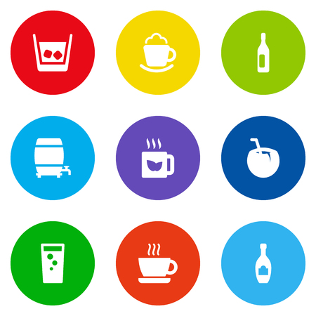 Set Of 9 Beverages Icons Set.Collection Of Wine, Cask, Cream And Other Elements. Illustration