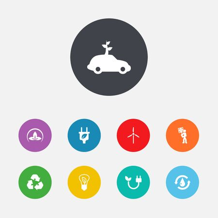 Set Of 9 Atmosphere Icons Set.Collection Of Car, Volunteer, Treatment And Other Elements. Illustration