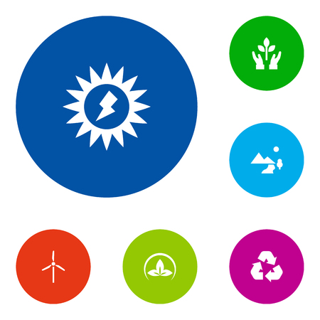 Set Of 6 Atmosphere Icons Set.Collection Of Cleaning, Nature, Protection And Other Elements.