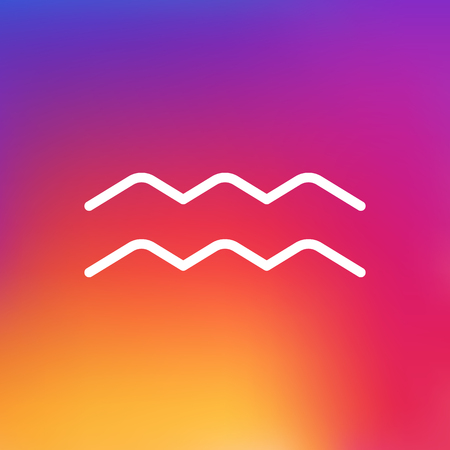 Isolated Water Bearer Outline Symbol On Clean Background. Vector Aqurius Element In Trendy Style.