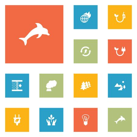 contamination: Set Of 12 Ecology Icons Set.Collection Of Energy, Contamination, Purification And Other Elements.