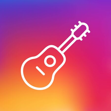 Isolated Acoustic Outline Symbol On Clean Background