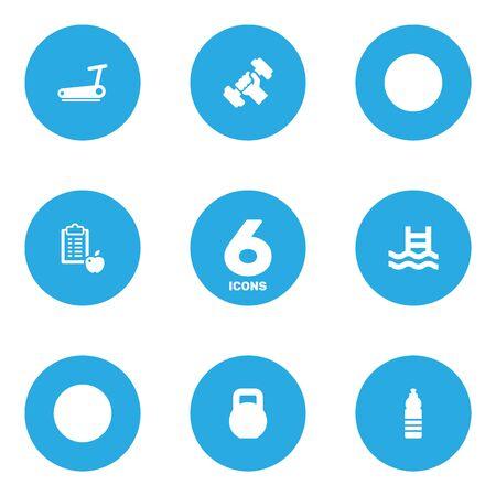 heavy: Set Of 6 Fitness Icons Set