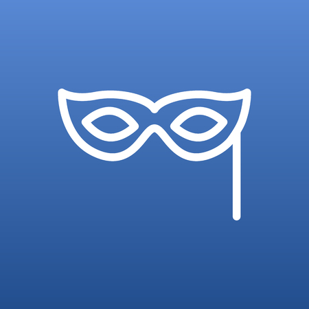 theatre masks: Isolated Masquerade Outline Symbol On Clean Background