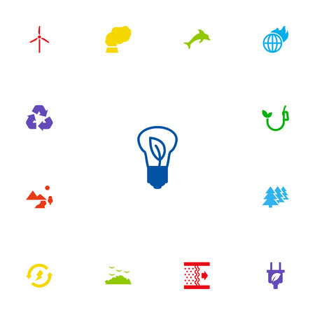 Set Of 13 Atmosphere Icons Set.Collection Of Rubbish, Purification, Reforestation And Other Elements.