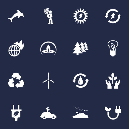 Set Of 16 Atmosphere Icons Set.Collection Of Car, Energy, Saving And Other Elements.