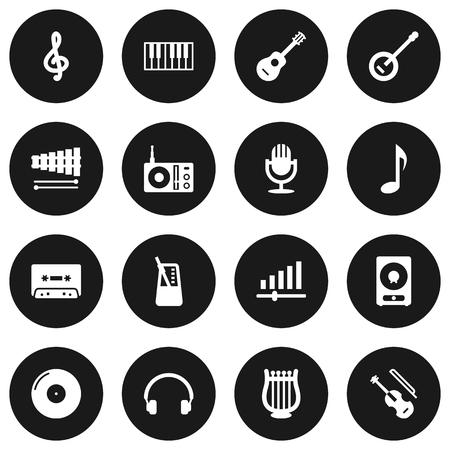 metronome: Set Of 16 Melody Icons Set