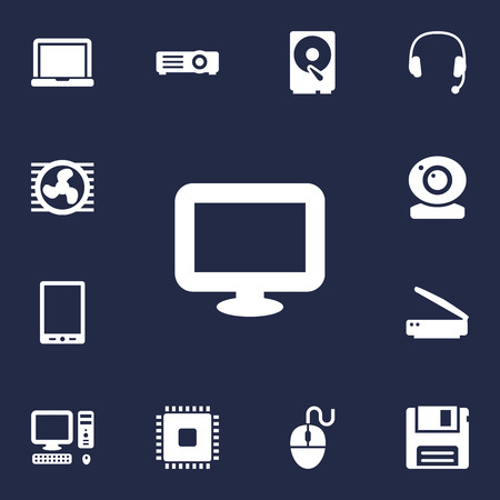 Set Of 13 Laptop Icons Set