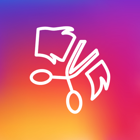 clippers: Isolated Scissor Outline Symbol On Clean Background. Vector Grooming Element In Trendy Style.
