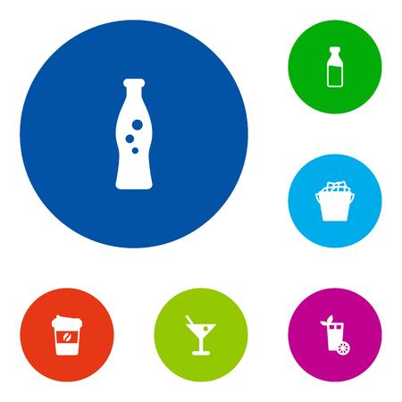 Set Of 6 Beverages Icons Set