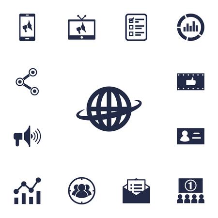 brand monitoring: Set Of 13 Trade Icons Set