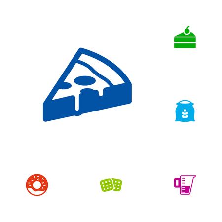 grain: Set Of 6 Food Icons Set Illustration