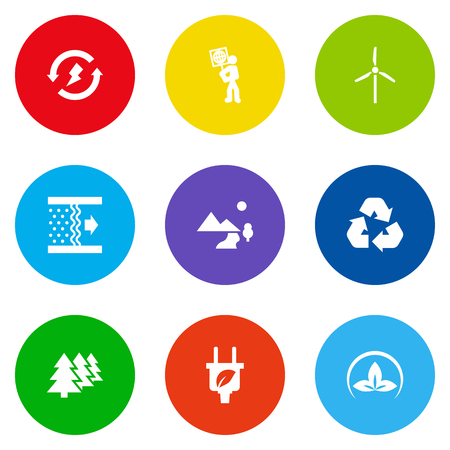 Set Of 9 Bio Icons Set.Collection Of Renewable, Volunteer, Fan And Other Elements.