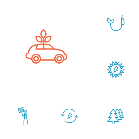 Set Of 6 Ecology Outline Icons Set.Collection Of Ecologist, Ecol, Afforestation And Other Elements.
