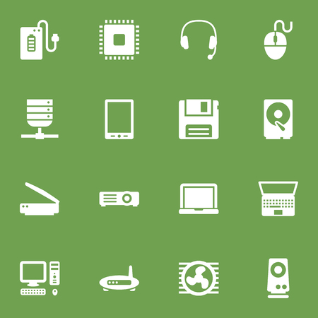 Set Of 16 Laptop Icons Set.Collection Of Supply, Datacenter, Computer And Other Elements. Illustration