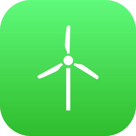 Isolated Wind Turbine Icon Symbol On Clean Background. Vector Fan  Element In Trendy Style.