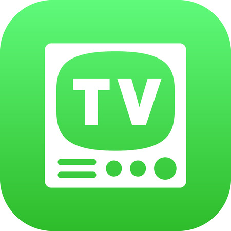 Isolated Tv Set Icon Symbol On Clean Background. Vector Television Element In Trendy Style.