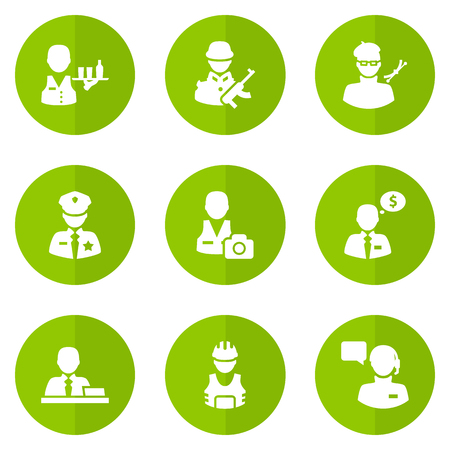 Set Of 9 Job Icons Set.Collection Of Producer, Manager, Cameraman And Other Elements. Illustration