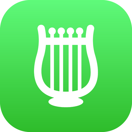 melodic: Isolated Harp Icon Symbol On Clean Background. Illustration
