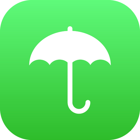 Vector Umbrella Element In Trendy Style. Isolated Insurance Icon Symbol On Clean Background.
