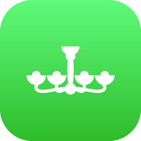 chandelier: Vector Luster Element In Trendy Style. Isolated Chandelier Icon Symbol On Clean Background.
