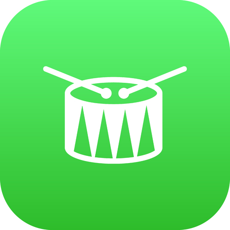Vector Barrel  Element In Trendy Style. Isolated Drum Icon Symbol On Clean Background.