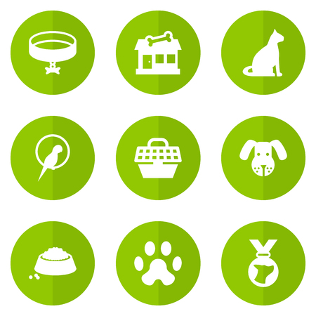 Set Of 9 Mammal Icons Set.Collection Of Store, Head, Footprint And Other Elements. Illustration