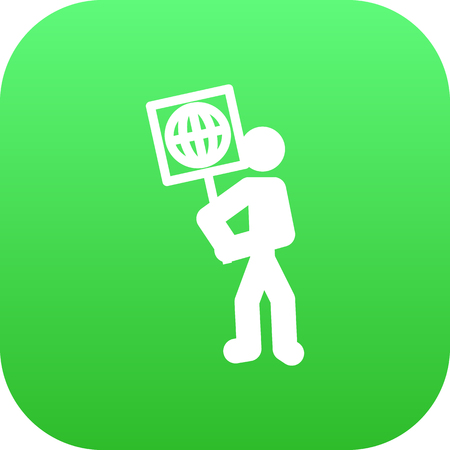 Isolated Ecologist Icon Symbol On Clean Background. Vector Volunteer  Element In Trendy Style. Çizim