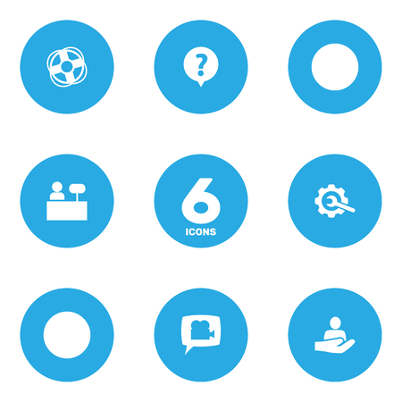 Set Of 6 Maintenance Icons Set.Collection Of Gear, Reception, Safe Ring And Other Elements.
