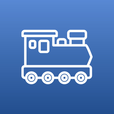 monorail: Isolated Wagon Outline Symbol On Clean Background. Vector Train Element In Trendy Style.