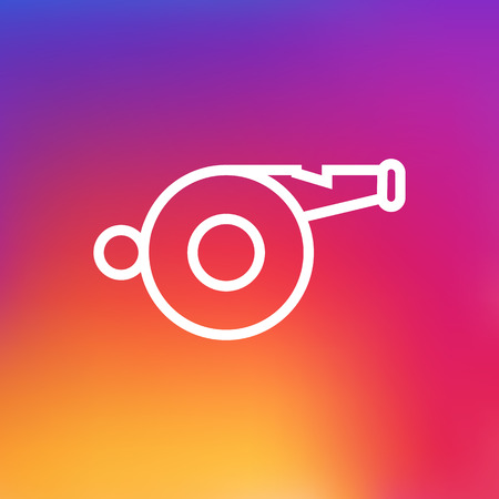 Isolated Blower Outline Symbol On Clean Background. Vector Whistle Element In Trendy Style. Illustration