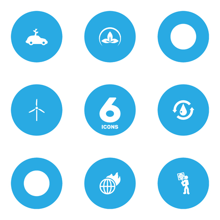Set Of 6 Atmosphere Icons Set.Collection Of Warm, Volunteer, Fan And Other Elements.