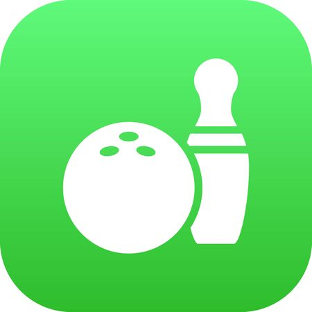 Isolated Bowling Icon Symbol On Clean Background. Vector Kegling Element In Trendy Style.