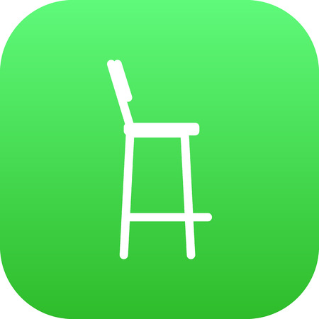modern kitchen: Isolated Bar Stool Icon Symbol On Clean Background. Vector Chair Element In Trendy Style.