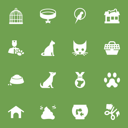 Set Of 16 Pets Icons Set.Collection Of Food, Pet Crate, Dog And Other Elements. Stock Photo