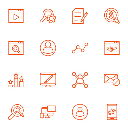 Set Of 16 Engine Outline Icons Set.Collection Of Application Analytics, Columns, Block And Other Elements.
