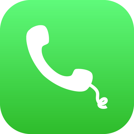 customer service phone: Isolated Handset Icon Symbol On Clean Background. Vector Telephone  Element In Trendy Style.