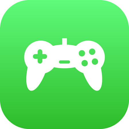 Isolated Game Controller Icon Symbol On Clean Background. Vector Joystick  Element In Trendy Style.