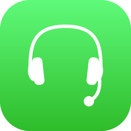 pc: Isolated Headphone Icon Symbol On Clean Background. Vector Headset Element In Trendy Style.