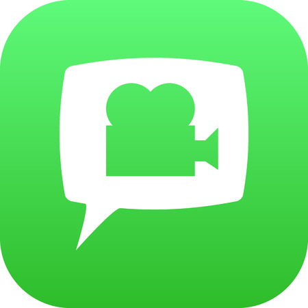 video call: Isolated Video Chat Icon Symbol On Clean Background. Vector Blog  Element In Trendy Style.