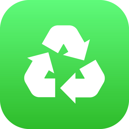 Isolated Recycling Icon Symbol On Clean Background. Vector Cleaning Element In Trendy Style.