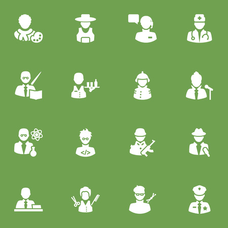 Set Of 16 Job Icons Set.Collection Of Officer, Tray, Planner And Other Elements.
