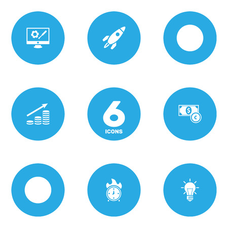 Set Of 6 Strategy Icons Set.Collection Of Repair Service, Money Growth, Rocket And Other Elements. Illustration