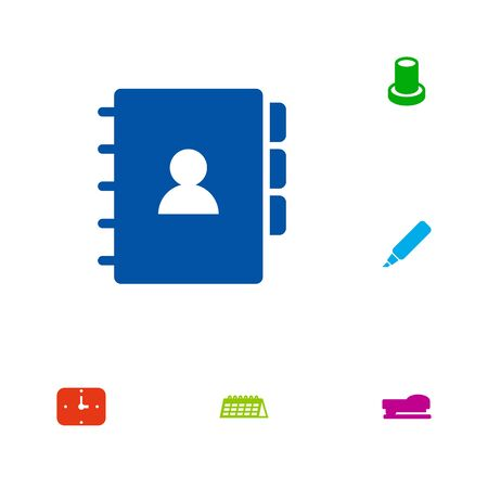 Set Of 6 Workspace Icons Set.Collection Of Sew, Label, Book And Other Elements.