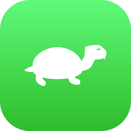 Vector Tortoise Element In Trendy Style.  Isolated Turtle Icon Symbol On Clean Background.