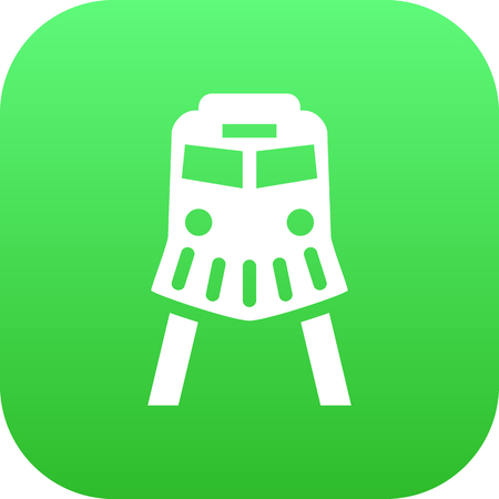 Isolated Train Icon Symbol On Clean Background. Vector Tram  Element In Trendy Style.