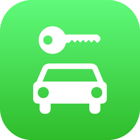 Isolated Car Rent Icon Symbol On Clean Background. Vector Automobile Element In Trendy Style.