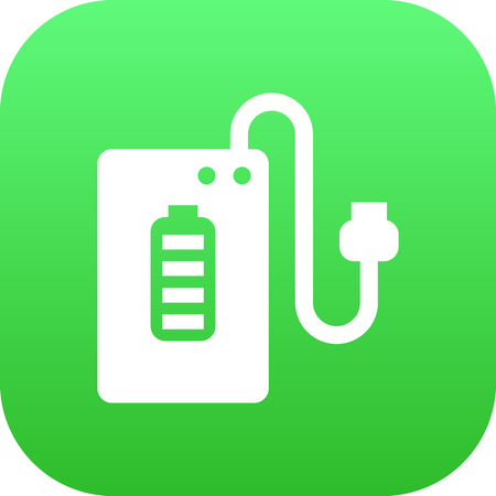 Isolated Powerbank Icon Symbol On Clean Background. Vector Supply  Element In Trendy Style.