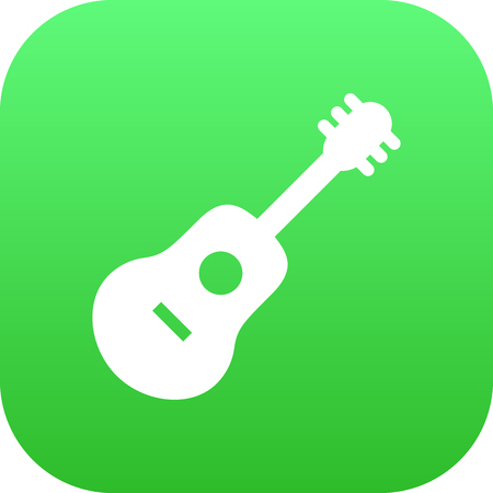 Isolated Guitar Icon Symbol On Clean Background. Vector Acoustic  Element In Trendy Style.